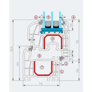 balkont r mit aufsatzkasten bis 800mm breite 299 00. Black Bedroom Furniture Sets. Home Design Ideas